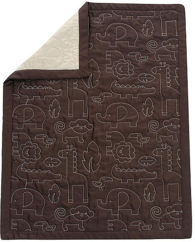 Kids Line Mod Pod Pop Jungle Quilted Blanket