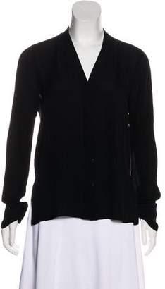 BCBGMAXAZRIA Long Sleeve Silk Blouse