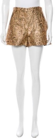 LanvinLanvin Metallic High-Rise Shorts w/ Tags