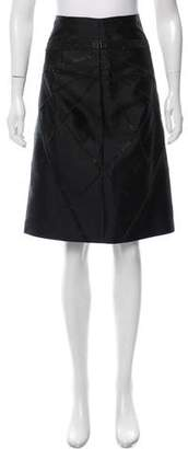 Akris Embellished Knee-Length Skirt