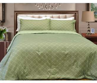 Natural Comfort Microfiber Reversible Comforter Set, King/Tiffany Spa