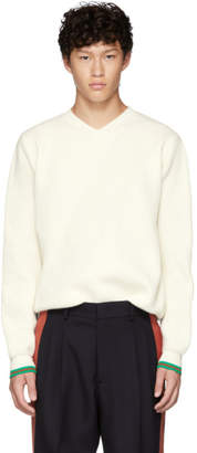 Stella McCartney White Jumper V-Neck Sweater