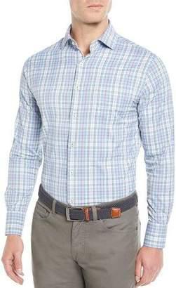 Peter Millar Men's Tattersall Performance Multi-Plaid Sport Shirt