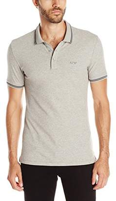 Armani Jeans Men's Tipped Short Sleeve Polo Shirt L