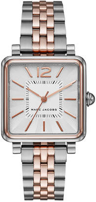 Marc Jacobs Women's Vic Two-Tone Stainless Steel Bracelet Watch 30mm MJ3463 $250 thestylecure.com