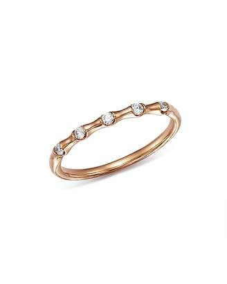 Bloomingdale's Five Diamond Stacking Ring in 14K Rose Gold, 0.10 ct. t.w. - 100% Exclusive