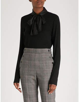 Sandro Tie-detail knitted top