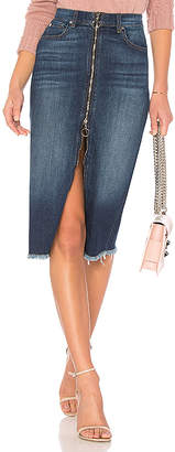 7 For All Mankind Long Zip Front Skirt.