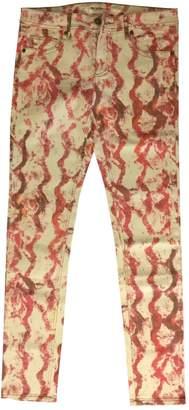 American Retro White Cotton - elasthane Jeans for Women
