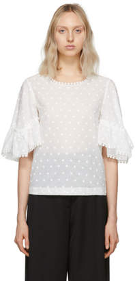 See by Chloe White Cotton Blouse
