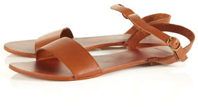 HOUPLA Leather Strap Sandals
