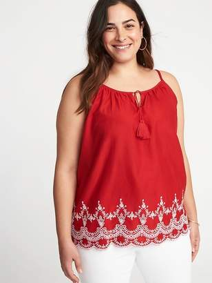 Old Navy Plus-Size Embroidered Cami Top