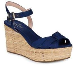 Kate Spade Tilly Basket-Weave Wedge Sandals