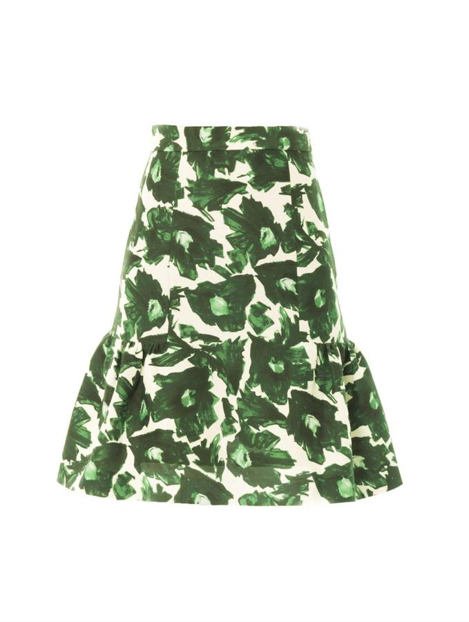 Mother Of Pearl Volta floral-print skirt