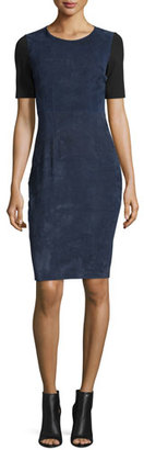 Elie Tahari Emily Colorblock Combo Sheath Dress $748 thestylecure.com