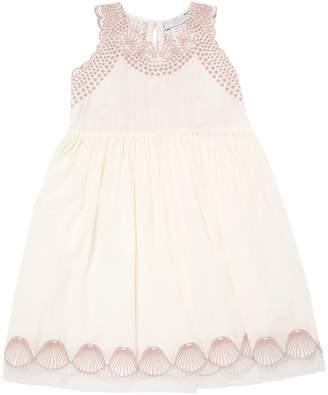 Stella McCartney Embroidered Organic Cotton Muslin Dress
