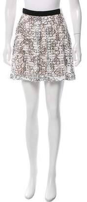 Julien David Printed Mini Skirt w/ Tags