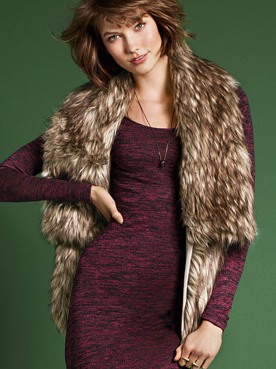 Victoria's Secret Faux fur Vest