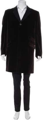 Versace Velvet Car Coat