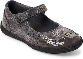 Naturino Toddler Girls) Anthracite Wingtip Mary Jane Shoes