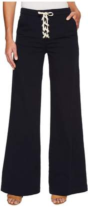 Splendid Cotton Twill Lace-Up Pants Women's Casual Pants