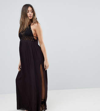 Asos Premium Crochet Panel Maxi Beach Dress