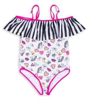 Betsey Johnson Baby Girl's One-Piece Unicorn Ruffle Swimsuit