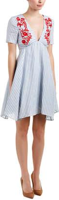 Tahari by Arthur S. Levine Tahari Asl Linen A-Line Dress