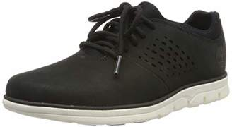 Timberland Men's Bradstreet Perf Plain Toe Oxford Low-Top Sneakers, (Black Nubuck), 40 EU