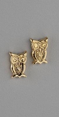 Gara Danielle Owl Post Earrings