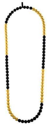 Prada Leather Bead Strand Necklace