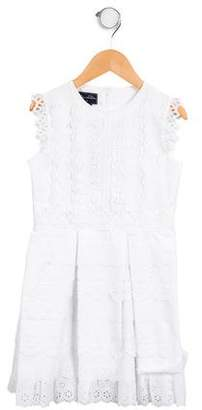 Oscar de la Renta Girls' Floral Broderie Anglaise Dress w/ Tags