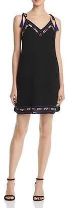 Aqua Tie-Strap Embroidered Shift Dress - 100% Exclusive