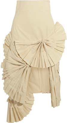 Jacquemus - Pleated Canvas Skirt - Cream $825 thestylecure.com