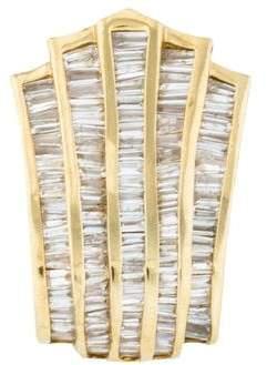 14K Diamond Baguette Slide Pendant