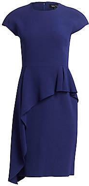 Teri Jon by Rickie Freeman Women's Asymmetrical Peplum Dress