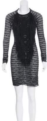 Etoile Isabel Marant Open Knit Long Sleeve Dress