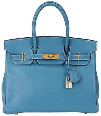 One Kings Lane Vintage HermAs 30cm Blue Jean Courchevel Birkin - Vintage Lux