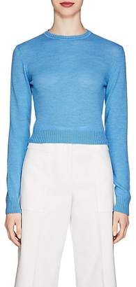 Jil Sander Women's Wool Crewneck Sweater - Blue