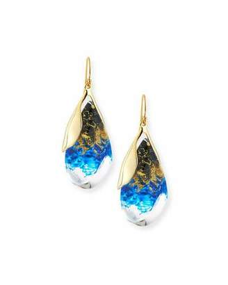 Alexis Bittar Suspended Teardrop Lucite Earrings, Indigo/Ink/Clear $225 thestylecure.com
