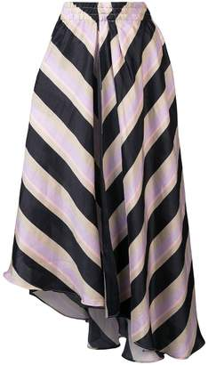 Apiece Apart asymmetric striped skirt