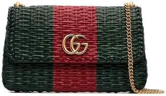 Gucci Linea Cestino mini coated wicker shoulder bag