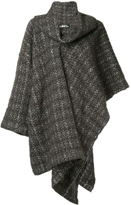 Issey Miyake Pre-Owned plaid knitted coat