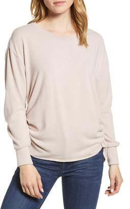 1 STATE 1.STATE Ruched Brushed Jersey Top
