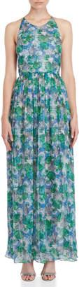 Emilio Pucci Shell Print Chiffon Maxi Dress