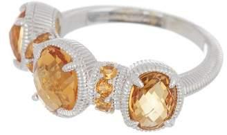Judith Ripka Sterling Silver Mardi Gras Multi-Gemstone Ring - Size 7