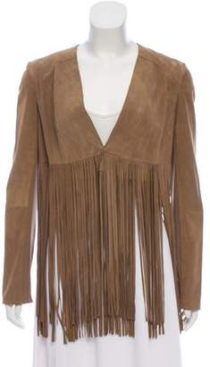 La Marque Suede Fringe-Trimmed Jacket w/ Tags