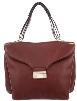 Valentino Smooth Leather Handle Bag