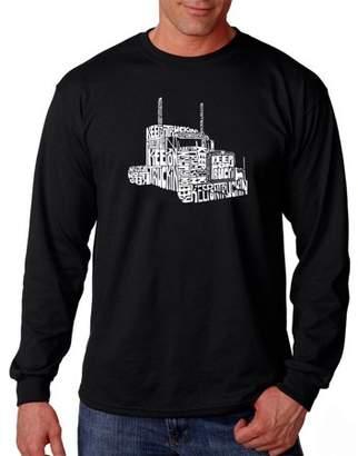 Pop Culture Big Men's Long Sleeve T-Shirt - Keep On Truckin'