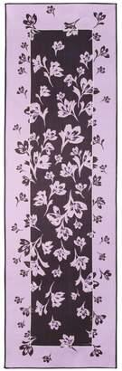 St. John Falling Flower Print Silk Georgette Scarf
